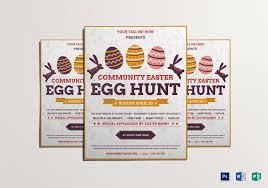 Elegant Easter Egg Hunt Flyer Design Template In Word Psd Publisher