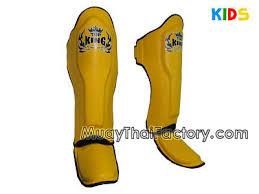 Top King Shin Guards For Kids Yellow