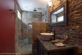 Rustic shower head Diy Copper Pipe Image By Construction Services Management Inc Bathroom Design Ideas Deltarainshowerheadbathroomrusticwithmodernrusticslate1