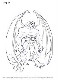 With its engaging characters and surprisingly gargoyles originally aired in syndication as a part of disney afternoon. Learn How To Draw Goliath From Gargoyles Gargoyles Step By Step Drawing Tutorials