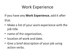 g careers project writing an effective cv contact details  6 work experience