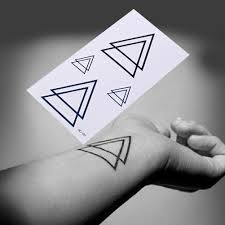 1pcs Tattoo Sticker Geometric Temporary Tattoos Triangle Tattoos Modern Style Unisex Body Paint Waterproof Tattoos