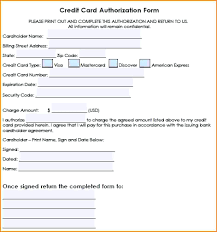 Authority Form Template template Credit Card Authority Form Template 1