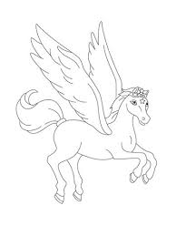 Pegasus Flying Coloring Page Free Printable Coloring Pages