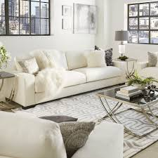 deep seat couch. Lionel White Cotton Down-filled Extra-long Deep Seat Sofa By INSPIRE Q Artisan Couch U
