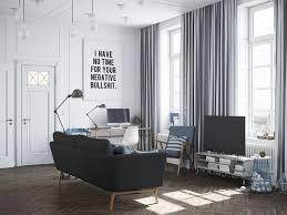 Industrial Design Living Room Scandinavian Apartment Jazzed Up By Industrial Design Elements