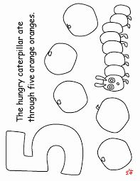 The Very Hungry Caterpillar Coloring Page With Pages Printables My