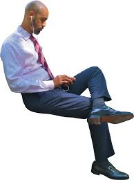 person sitting in chair back view png. business man sitting using phone person in chair back view png t