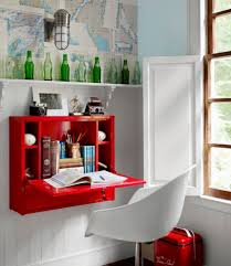 office floating desk small. contemporary office furnituressmall red floating hideaway desk and white modern stool adorable  space saving throughout office small h