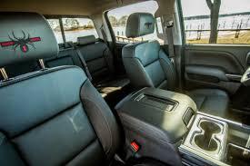 custom black widow silverado truck interior