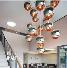 modern glass globe ball pendant lights copper shade pendant lighting round ceiling hanging lamp luminaire kitchen