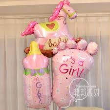 Baby Bottle Balloon Decoration Baby Shower Newborn Girl Baby 60 Days Birthday Party Decoration 49