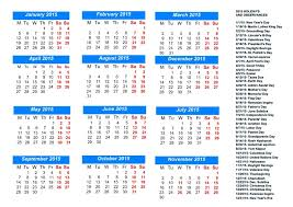Printable 2015 Calendars By Month 2015 Printable Calendars With Holidays 2015 Calendar With