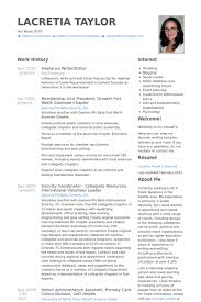 Freelance Writereditor Resume Example Become A Freelance Writer Unique Editor Resume