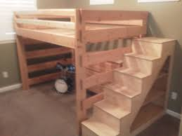 bunk bed with stairs. Bedroom:Bunk Beds With Stairs Diy A» Home Decorations Insight Loft Plans Inspiring Twin Bunk Bed R