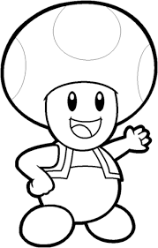 Toad Coloring Page Toad From Mario Bros Coloring Page Free Printable