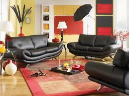 Yellow Black And Red Living Room Attractive Modern Design Black And White Decoration Ideas With
