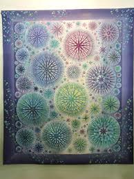Great Tokyo International Quilt Festival - 2015   Blossom Heart Quilts & Purple and green quilt at Tokyo Quilt Show Adamdwight.com