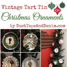 Vintage Tart Tin Christmas Ornaments