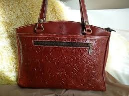 patricia nash poppy fl tote brown leather handbag satchel heritage nwt