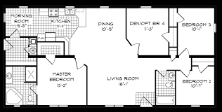 Single Wide Mobile Home Floor Plans 2 Bedroom Bedroom Single Wide Mobile Homes Floor Plans With 4 Interallecom