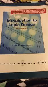 Digital Design 2nd Edition By Frank Vahid Introduction To Logic Design Third Edition Alan B Marcovitz