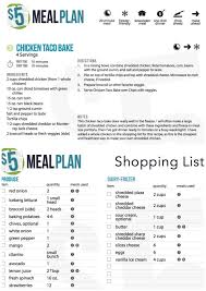 weekly meal plans on a budget healthy meal planning on a budget