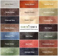 earth colors pallet