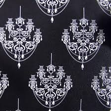 black chandelier self adhesive wallpapers