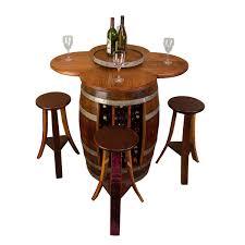 Image Barrel Bar Wine Barrel Table Set Rack Base Napa East Wine Barrel Table Set Rack Base Napa East