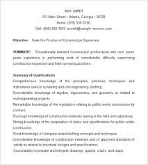 Sample Construction Superintendent Resume Construction Superintendent Resume Examples Enterprise