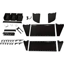 Wall Control Slotted Pegboard Industrial Workstation Accessory Kit  Black,  Model# 35-K