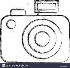Skizze Zu Zeichnen Kamera Cartoon Vektor Abbildung Bild 143585766