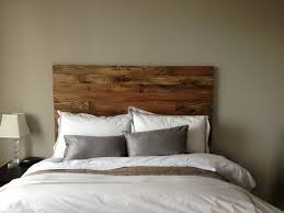Fabulous Wood Style Headboards With Pillows And White Blanket
