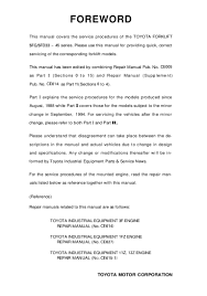 Toyota 02-5FD45 Forklift Service Repair Manual