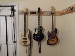 k m deluxe guitar wall mount with thick