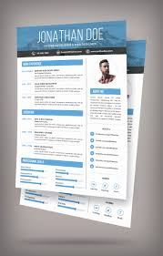 Resume Cv Template Free Psd Elegant Free Simple Resume Design ...