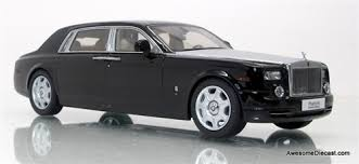 rolls royce phantom white with black rims. kyosho 143 rolls royce phantom extended wheel base diamond black white with rims l
