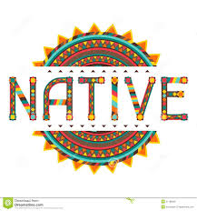 Native Design Native Design Word With Ornament Stock Vector Illustration