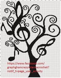 Graphghan Crazy Intarsia Crochet Music Tree Graph