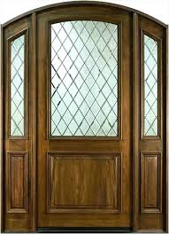 wood front doors with wrought iron charming light wood front doors with glass entry door