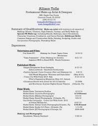 Ten New Thoughts About Makeup Resume Resume Information