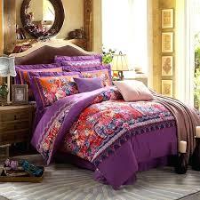 bohemian bedding sets twin purple comforter xl