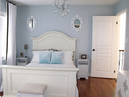 Blue Small Bedroom Ideas with White Furniture