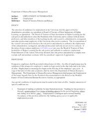 Recommendation Letter Example For Employment Example Good Resume