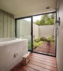 Bathroom: Awesome Bathroom Design With Stone Bathtubs - Bookshelves