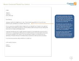 Thank You For Donation Letter Template Nonprofit Word Memorial