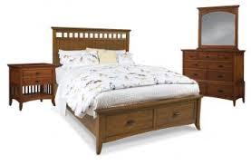 modern shaker furniture. Cresent Fine Furniture Modern Shaker 4 Piece Slat Panel With Storage Bedroom Set In Cherry