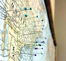 World Travel Map Pin Board W Push Pins Golden Aged Uk Jgzymbalist Com
