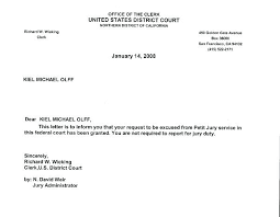 Ideas Of Jury Duty Excuse Letter Medical On Resume Court For Work